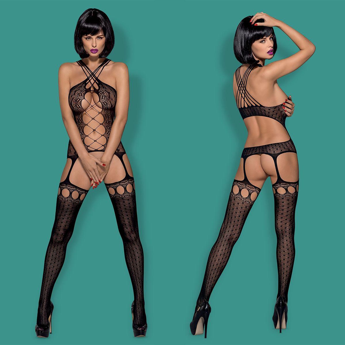 porn Netz-Bodystocking mit V-Ausschnitt you