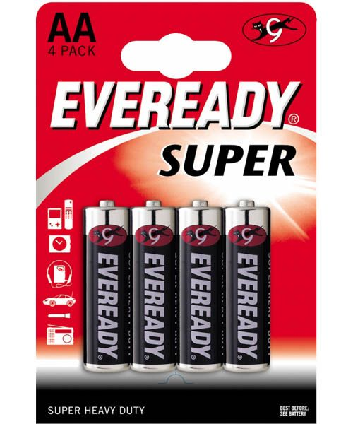 Батарейки EVEREADY SUPER R6 типа AA  - 4 шт. от Energizer