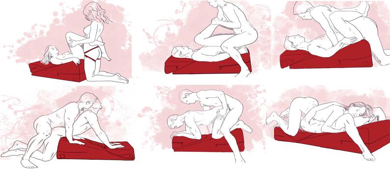 Позы на секс подушке